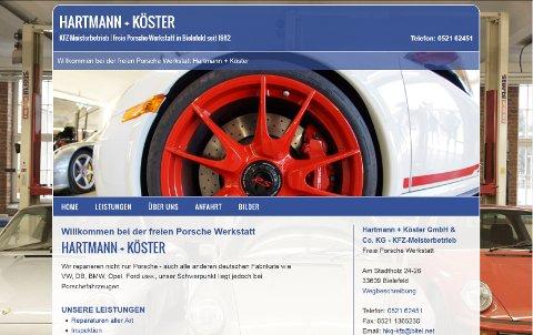 Webdesign für Hartmann und Köster aus Bielefeld