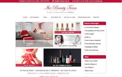 Webdesign für Ihr Beauty Team in Bielefeld