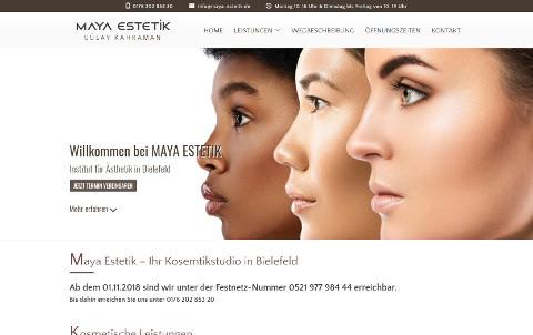 Webdesign für Maya Estetik in Bielefeld