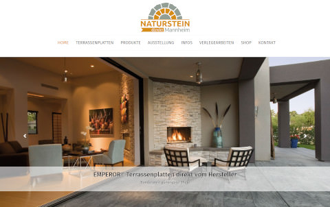 Webdesign für Naturstein Handel